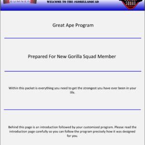 Great Ape Program 3