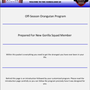 Off-Season Oragutan 3