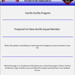 Vanilla Gorilla Program 3